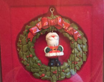 Vintage Hallmark Tree Trimmer Collection Ornament Santa Claus 1970's