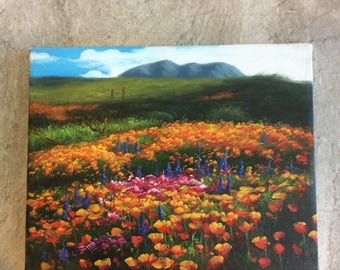 Mountain Wildflower Painting 10X8 inches