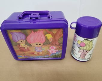 Vintage Treasure Trolls Lunchbox and Thermos
