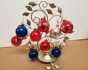 Set of 11 Vintage Christmas Ornaments