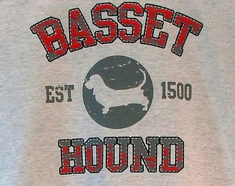 Womens TANK TOP Basset Hound Dog Choose Size and Color 17387