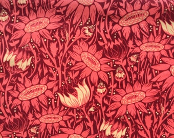 """Coreopsis coral Velveteen Anna Maria Horner Loulouthi One Yard 36"""" x 56"""""""