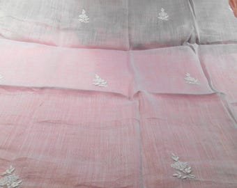 Antique Fabric Batiste Remnant Powder Blue Edwardian Dress