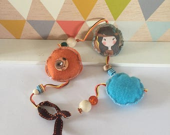 Garland / fabric pendant * Indian Poline *.