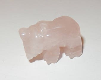 Rose Quartz Elephant - small