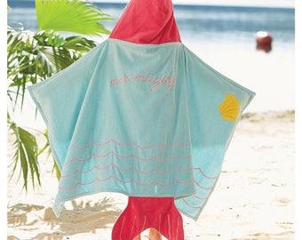 Hooded Mermaid Towel by MudPie