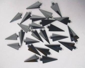 ARROWHEAD Black Hematite Pendants lot of 25 WHOLESALE