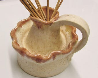Oil Diffuser Handmade Pottery Diffuser Jar Ceramic Candle Stick Clay Jug