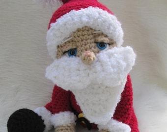 Summer Sale Crochet Pattern Santa Doll by Teri Crews instant download PDF format Crochet Toy Pattern