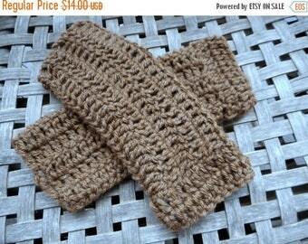 The Wild Hawk Fingerless Gloves crochet Arm Warmers Handmade Crocheted. fall autumn winter boho. Cocoa Brown Wool Blend Yarn Handmade gloves