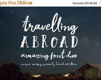 Digital Fonts 80% Off SALE Digital Fonts Duo, Travelling Abroad, Script font, Wedding font, Logo fonts, Hand drawn, Hand written