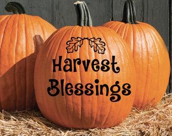 Fall / Autumn Pumpkin  Vinyl Decal Sticker