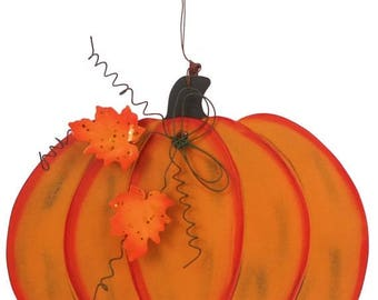 SUPPLY SALE Pumpkin Decor HAR66228, Fall Decor, Halloween Decor, Wreath Decor
