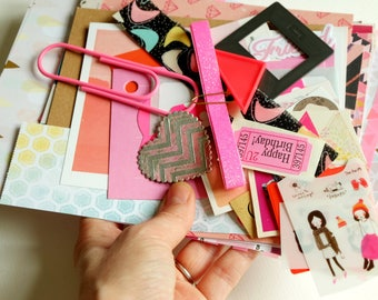 Hello Neon -  CRAFTY BITS - crafting kit with papers and embellishments