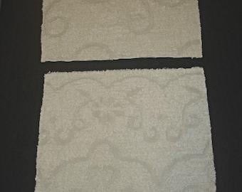 """Cotton Chenille Bedspread Squares 100% Cotton Chenille fabric Squares White/ecru color 18"""" x 21"""" Size"""