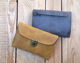 Womens wallets Yellow, leather phone wallet, Credit card wallet leather, slim card wallet, handmade wallets for womens, coin pocket wallet