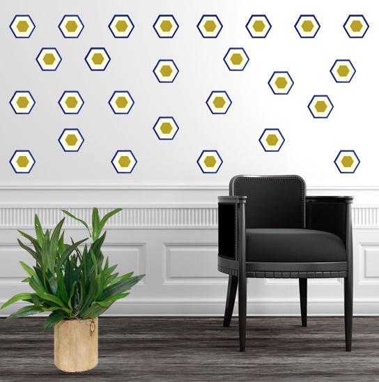 Hexagon Decal, Art-Deco, Nursery Wall Decals, Nursery Wall Decal ...