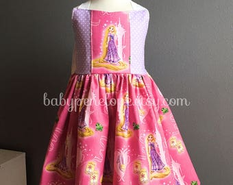 Ready to Ship - Rapunzel Dress - Birthday Outfit - Cute Birthday Dress - Disney Dress - Rapunzel Birthday Party- Size 4