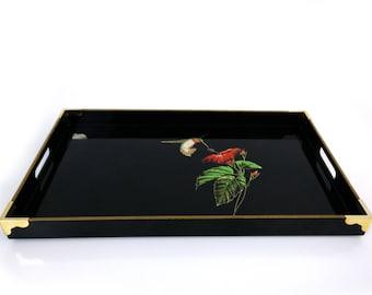 Otagiri Lacquerware hummingbird tray / Japanese decor