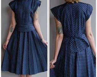20% Off Sale // 1950s Dress // Sweet Sue Polka Dot Dress // vintage 50s dress
