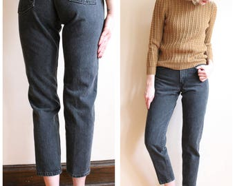 1990s Denim // Black Wash Levis 550 Relaxed Fit Jeans // vintage 90s denim jeans