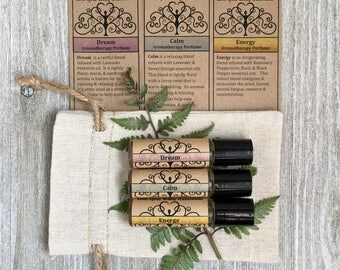 Aromatherapy gift set, essential oil kit, stress relief kit,  gifts for her, gifts for teacher, gifts for co worker, essential oil gift