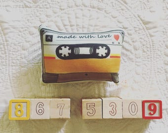 Made With Love Mix-Tape Plush Rattle
