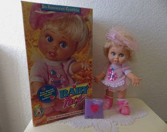 Baby Face Doll, SO INNOCENT CYNTHIA  with original box. Galoob, 1990s toy. Unplayed With.