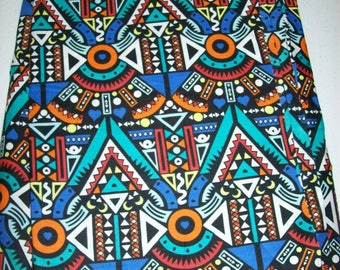 Per Yard 36 inches by 44 inches Colorful Ethnic African Print Fabrics for /Clothing / Crafting/ Home decor/ Bags and Accessories