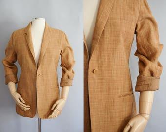 Vintage Armani Linen Blazer | Medium