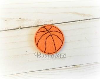 Basketball Feltie Embroidery Design