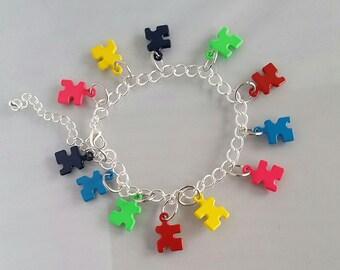Autism Awareness Charm Bracelet