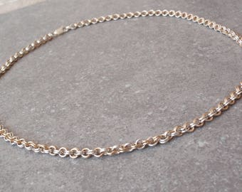 Two Tone Chain Sterling Silver 10K Gold Filled Double Round Links 040517BT