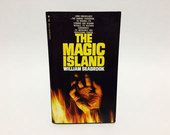 Vintage Occult Book The Magic Island by William Seabrook 1968 Paperback