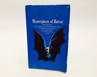 Vintage Horror Book Masterpieces of Horror 1966 Paperback Anthology