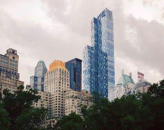 Manhattan Skyline from Central Park - Fine Art Photograph, NYC, buildings, urban,  wall art, travel photography