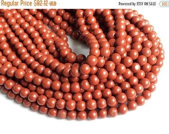 ON SALE 50% 5 Strands WHOLESALE Red Jasper Stone, Natural Red Jasper Rondelle, Jasper Beads, Red Jasper Necklace, 6.5mm Beads, 13 Inch, Gems