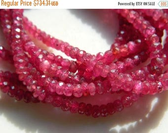 """ON SALE 55% Ruby Faceted Beads, Ruby Jewelry, Genuine Ruby Necklace, Glass Filled Ruby, 4 Lines, 4mm To 6mm, 15"""" To 17"""" Strands"""