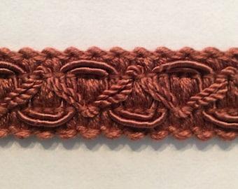 10 yard piece Flat Tape trim in brick rust