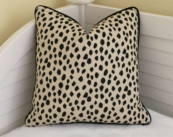 Special Order for Shelley - Lacefield Designs Animal Print Designer Pillow Cover with Piping