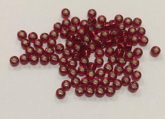 Size 8/0 Miyuki Seed Beads Silverlined Ruby 15g