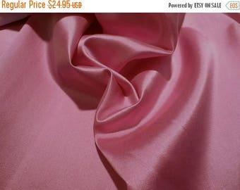 ON SALE Dusty Rose Silk and Wool Alaskine Fabric--One Yard