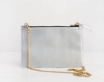 Small vegan crossbody, silver cross body bag small crossbody handbag vegan crossbody purse vegan bag gift, metallic crossbody bags vegan