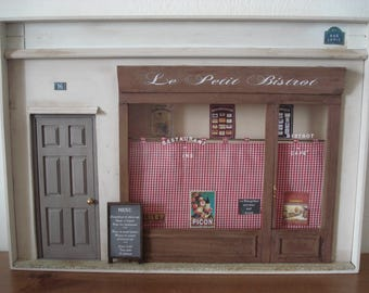 Miniature art French Bistrot Paris Shop front  wall decor  home decor