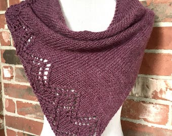 Plum Chevron Lace Shawl Scarf