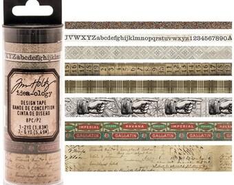Tim Holtz- Design Tape Aristocrat- 8 Different Tapes