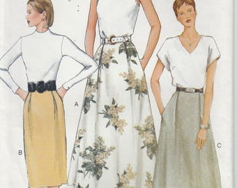 Skirt Pattern Slightly Flared or Straight Misses Size 8 - 10 - 12 uncut Vogue 7432
