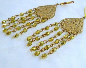 Bohemian Chandelier Earrings Beaded Earrings