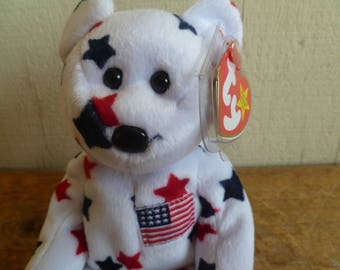 """TY Beanie Baby Bear """"Glory""""  With Tags 1998"""