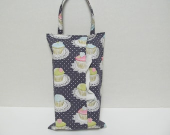 Hanging Tissue Box Cover For Skinny Kleenex/Cup Cake